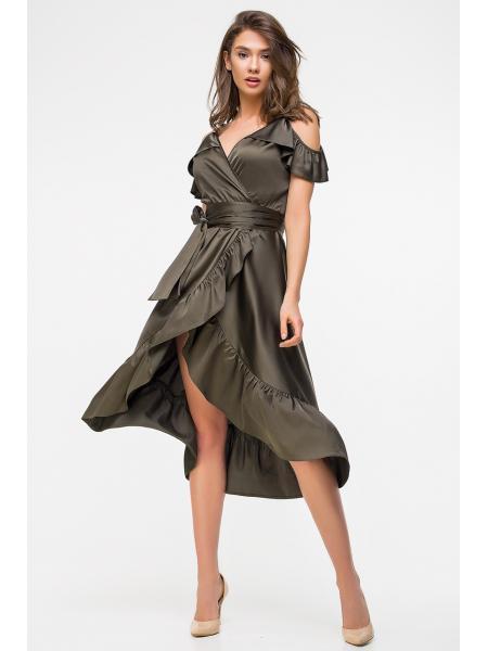 Женское Платье С Запахом «Шёлк» изображение