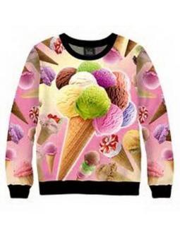 Фото свитшот взрослый «ice cream»